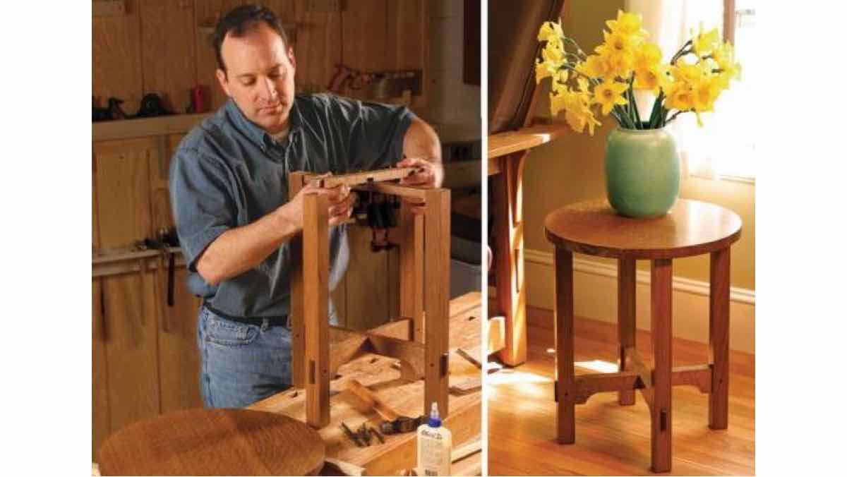 side tables,round,furniture,free woodworking plans,projects,diy