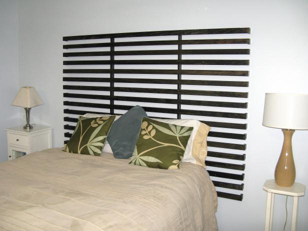 How to build a Slatted Headboard free project.
