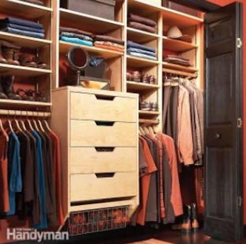 Build Closet Storage Drawers using free plans.