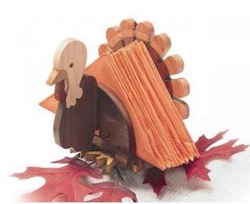 Build a fun Thanksgiving Napkin Holder using free plans.