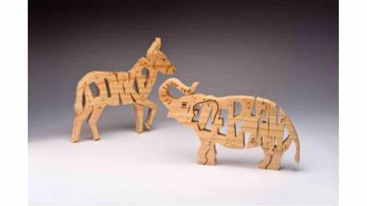 donkeys,elephants,puzzles,free scrollsaw,free scroll saw,woodworking,diy