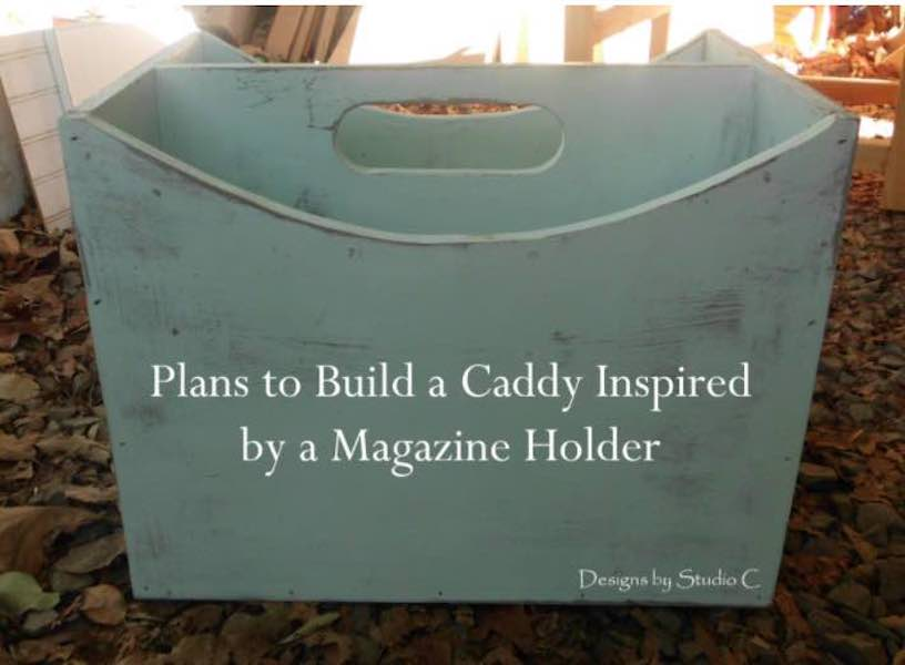 Free plans to build a Studio C Magazine Caddy.