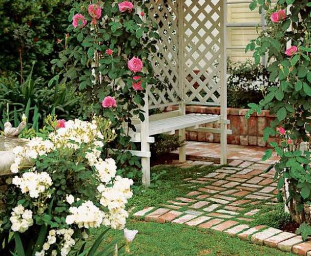 Free plans to build an Easy Arbor.