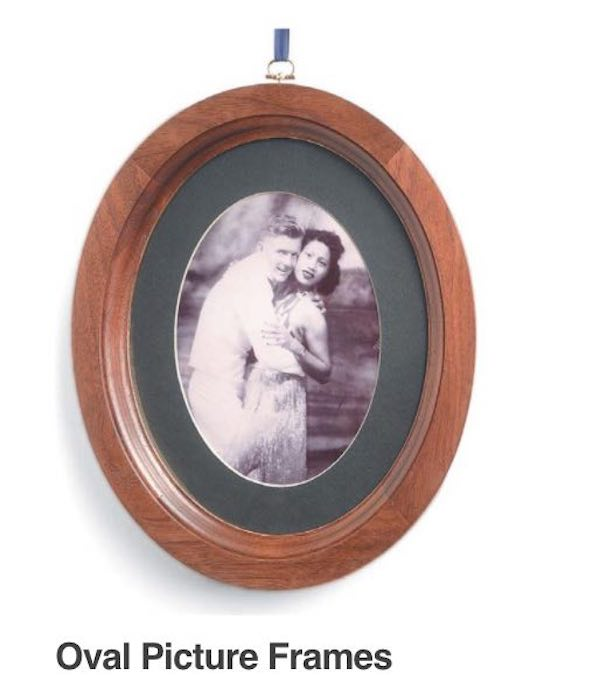 Free plans to build an Oval Picture Frame.