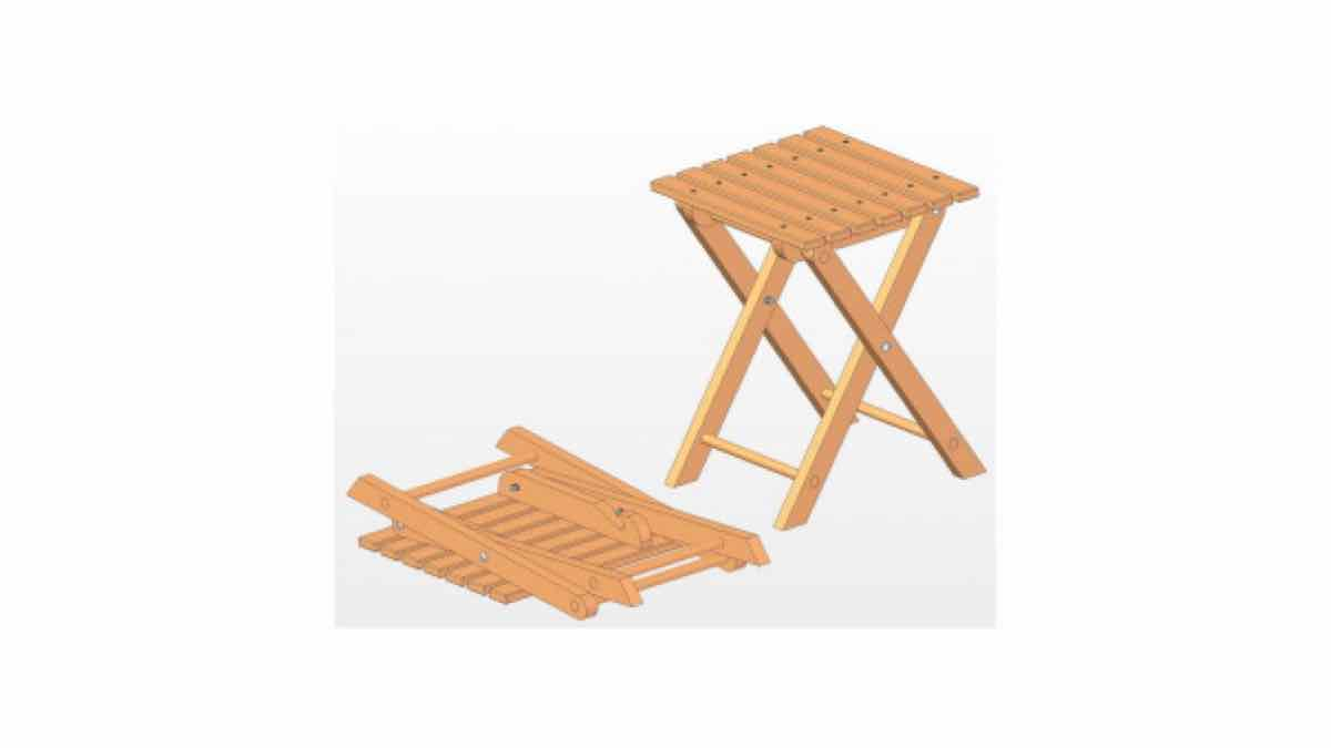 folding stools,furniture,free woodworking plans,projects,diy