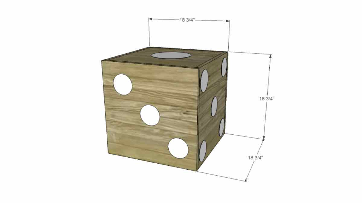 tables,furniture,dice,free woodworking plans,projects,side table,end table,diy