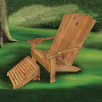 Childs Adirondack Chair And Footstool