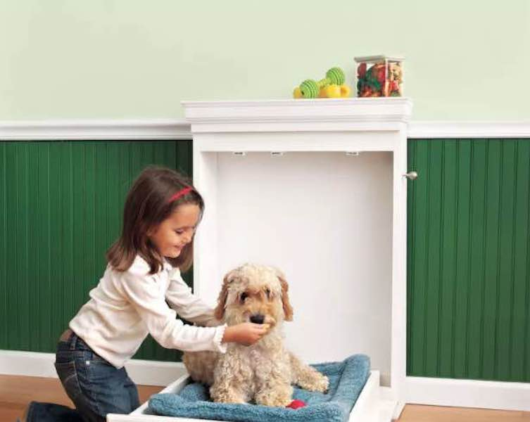 Build a Murphy Dog Bed using free plans.