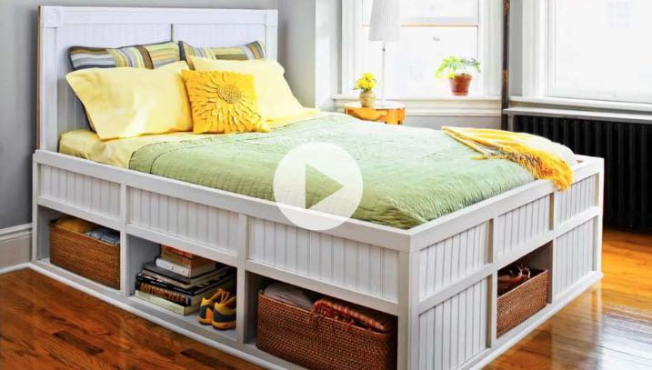 Build a Storage Bed for your bedroom.