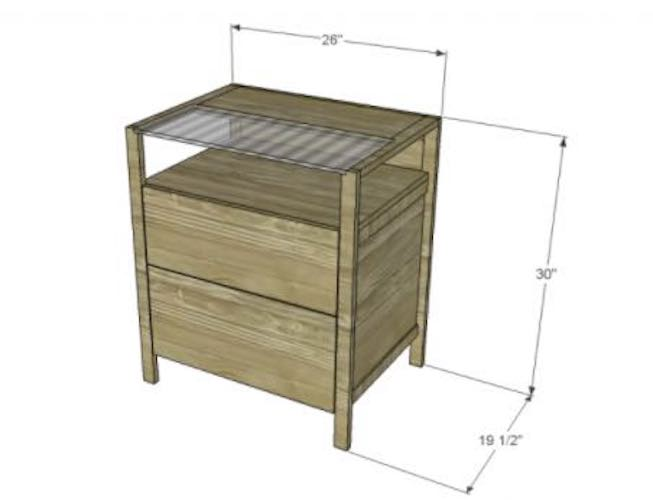 Free plans to build a File Cabinet.