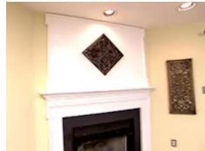 Extended Fireplace Mantel