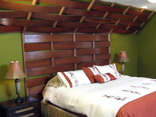 How to build a Woven Wooden Headboard free project.