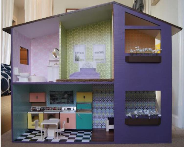 Build a Two Story Doll House using free plans.