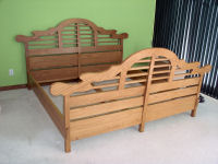 Build a King Size Bed using free plans.