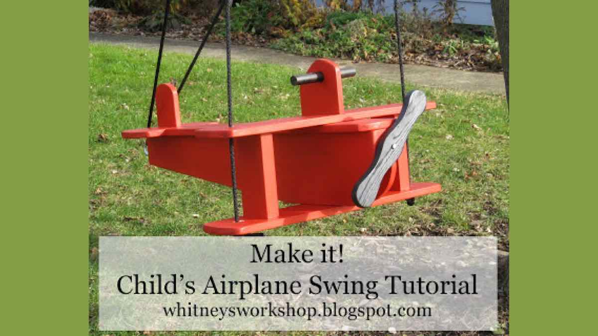 swings,airplanes,free woodworking plans,childrens,childs,kids,outdoors
