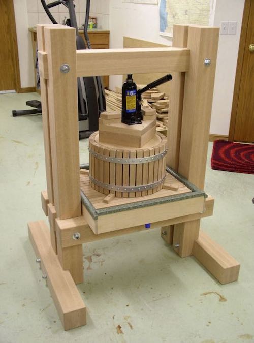 Free plans to build an Apple Cider Press.