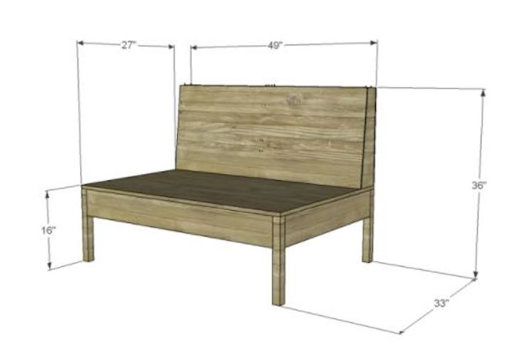 Build A Loveseat using free plans.