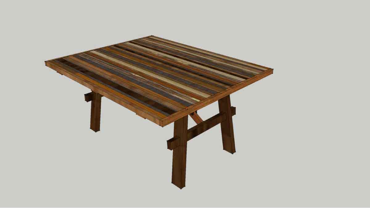 tables,dining tables,sketchup,Google 3D,3-D warehouse,furniture,dining room tables,drawings,free woodworking plans,projects,do it yourself,woodworkers