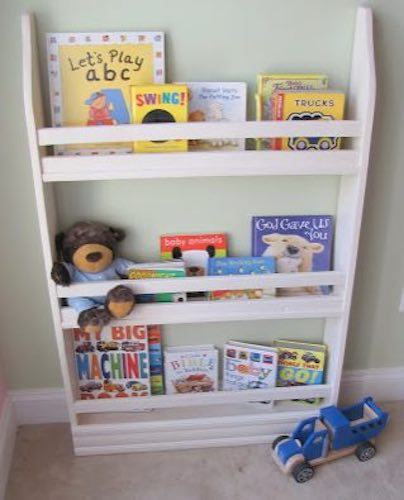 Build Narrow Bookshelves using free plans.