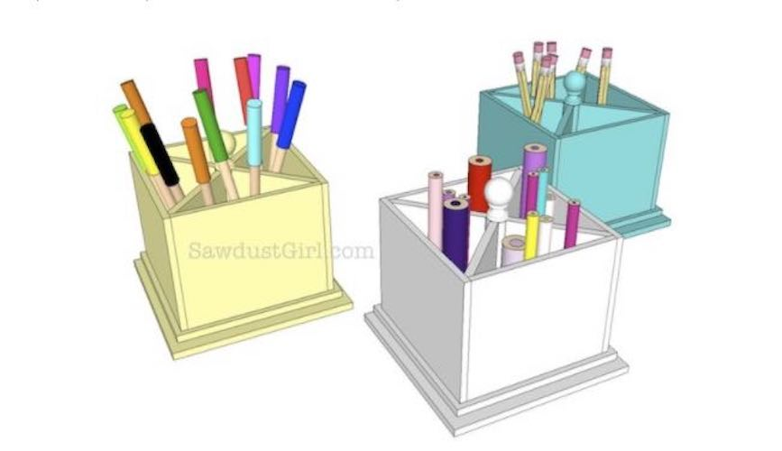 Free plans to build an Art Caddy.