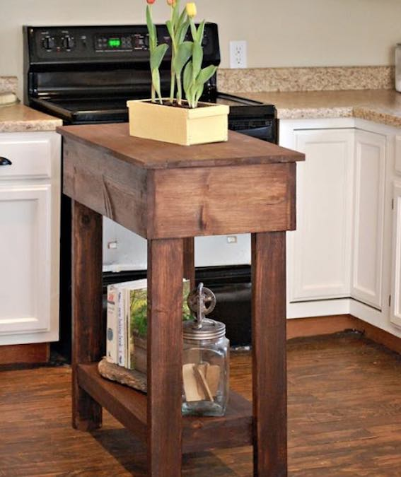 Tight Space Kitchen Island Free Woodworking Plan Com