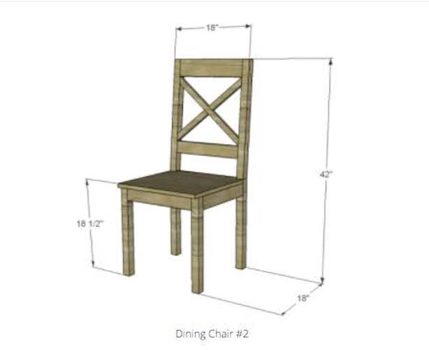 Build a Dining Chair With X Back using free plans.