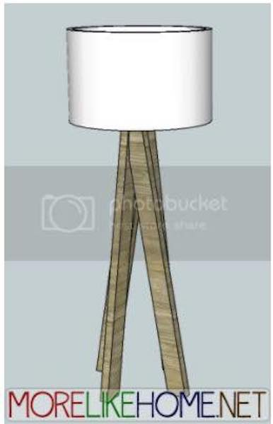 Free plans to build a Floor Lamp Using 2 x 4s.