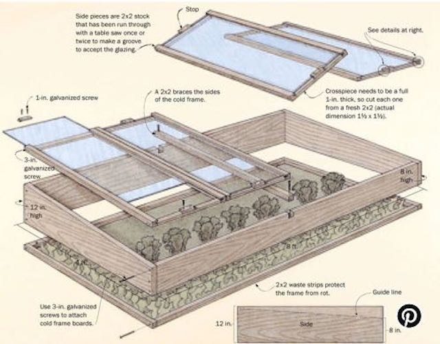 Learn how to Build A Simple Cold Frame.