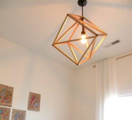 Free plans to build a Cube Pendant Light.