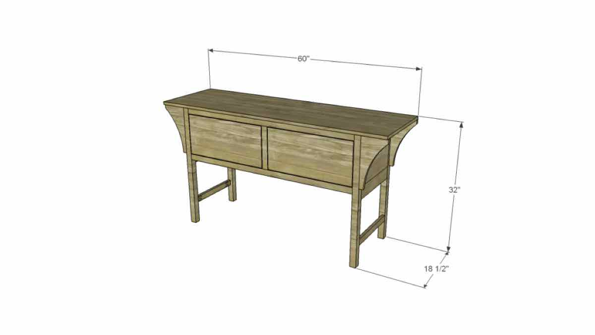 console tables,furniture,vintage style,free woodworking plans,projects,diy