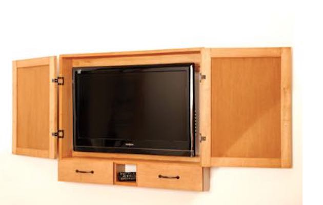 Build a Flat Screen Cabinet using free plans.