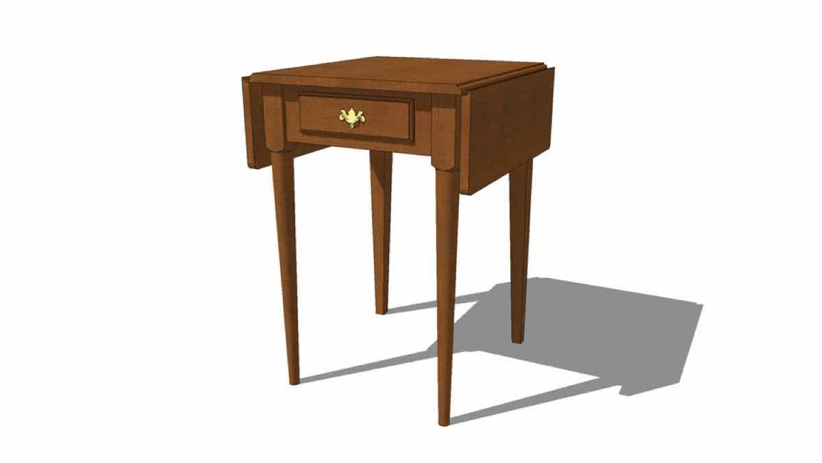 tables,furniture,drop leaf,free woodworking plans,projects,google 3D,diy