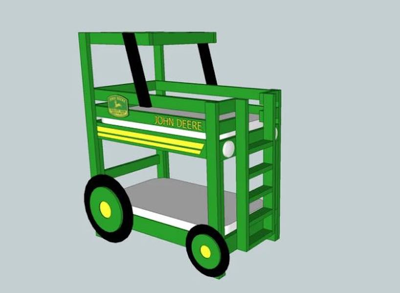 Free plans to build a Toddler Bunk Bed.