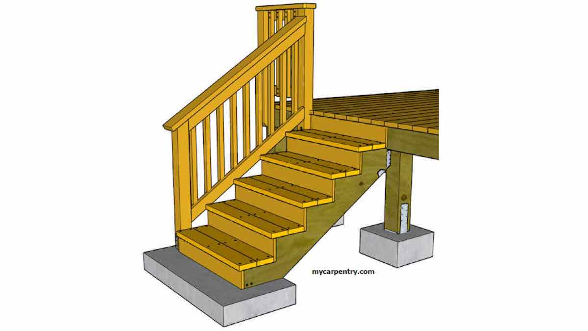 stair railings,outdoors,decks,patios,free woodworking plans,projects,how to,installation