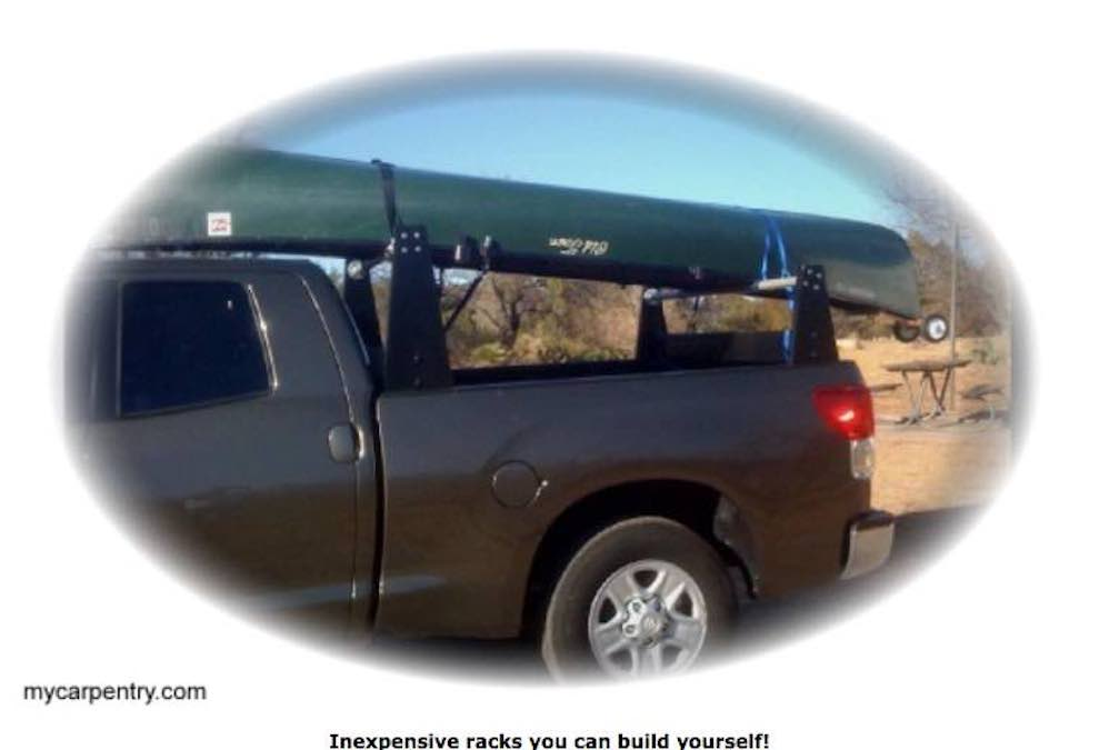 Free plans to build a Ladder Rack For A Truck.