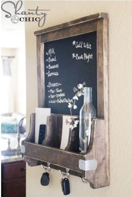 Build a Chalkboard and Key Hooks using free plans.