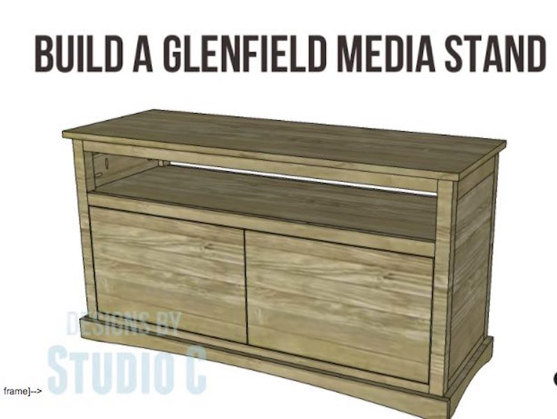 Free plans to build this Glenfield Media Stand.