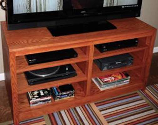 Build a Sectional Entertainment Center using free plans.