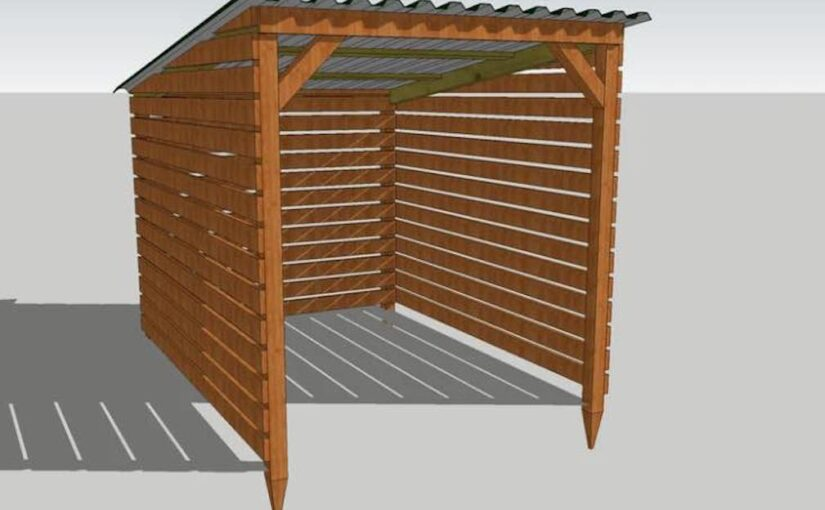 Shed for Firewood 6 x 8 Ft