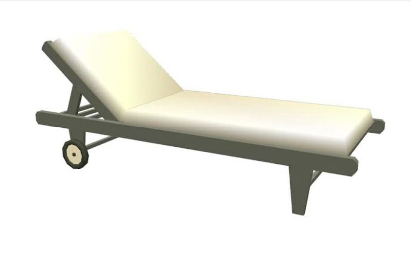 Outdoor Lounge Chair SketchUp