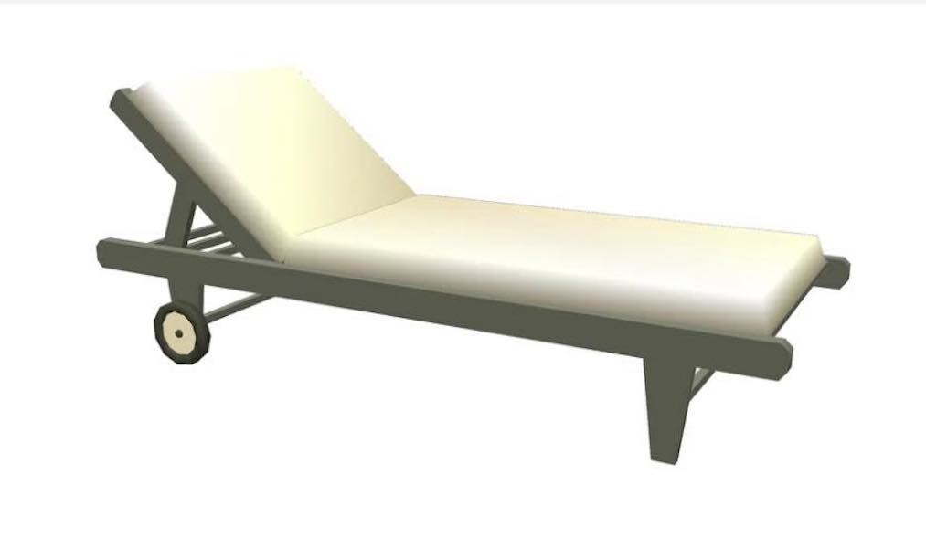 Build a Outdoor Lounge Chair using SketchUp.