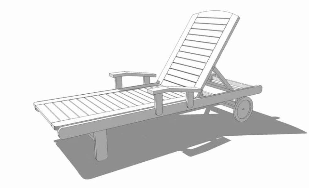 Build a Woodsmith Lounge Chair using SketchUp.