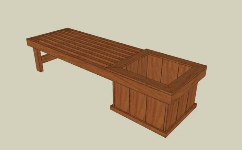 Free plans to build a Planter Bench.