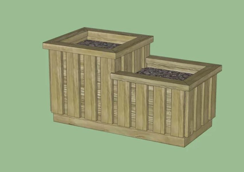 Build a Two Level Tiered Planter Box.