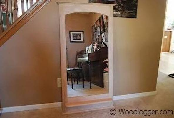 Build a Mirror Frame With Arch Top using free plans.
