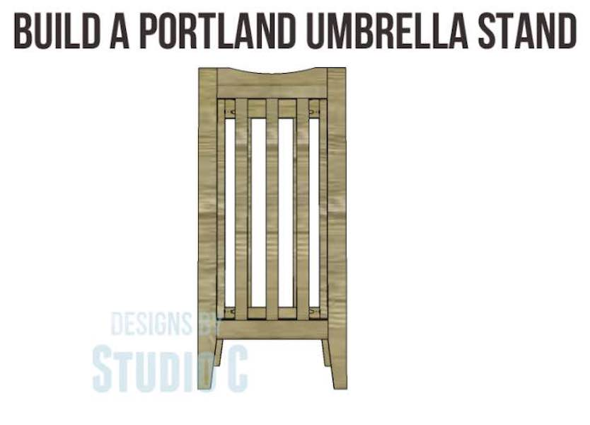 Free plans to build an Umbrella Stand.