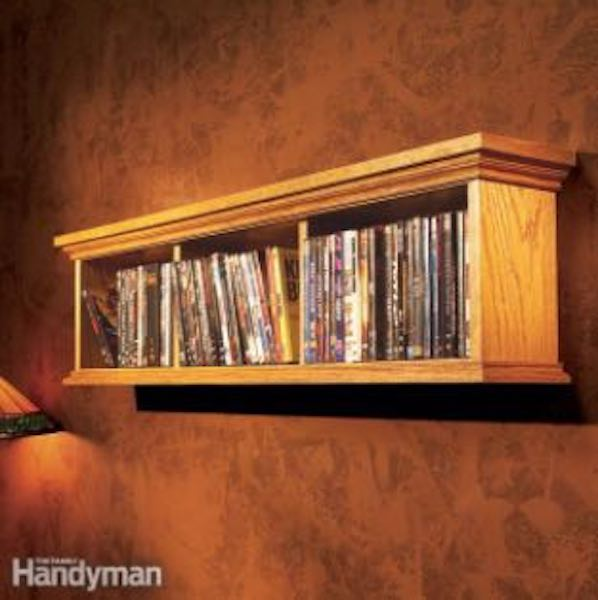 Build a DVD Wall Cabinet using free plans.