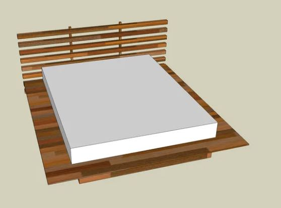 Free plans to build your own Platform Bed.