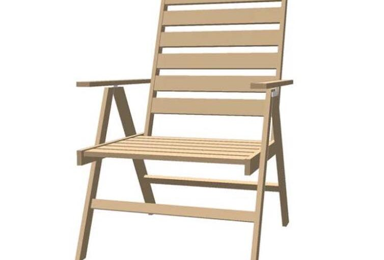 Deck Chair SketchUp