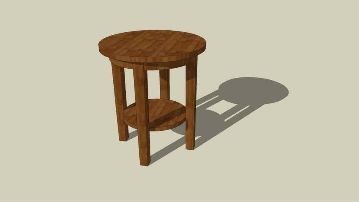 tables,furniture,end tables,free woodworking plans,round,projects,diy,side tables,sketchup